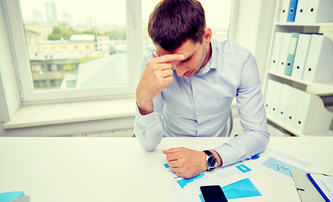Man looking stressed - Dismissals – dealing with common situations