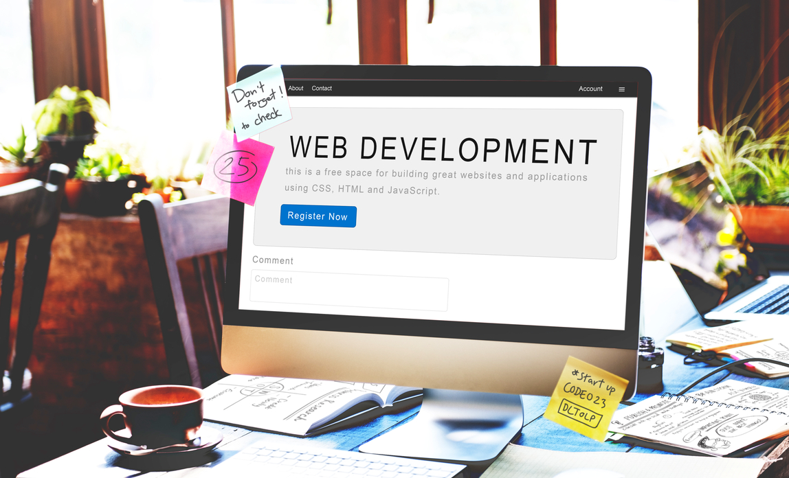 Web development on a monitor - Your website FAQs