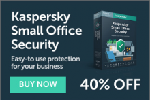 40% off Kaspersky Small Office Security