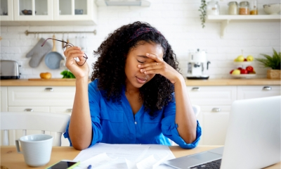 A self employed woman worries about having no work or savings
