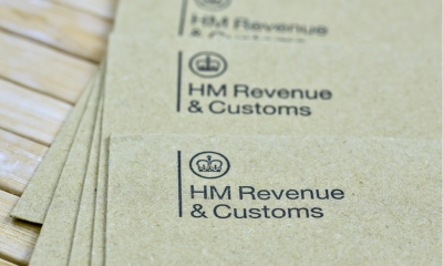 Close up shot of HMRC papers on an office desk