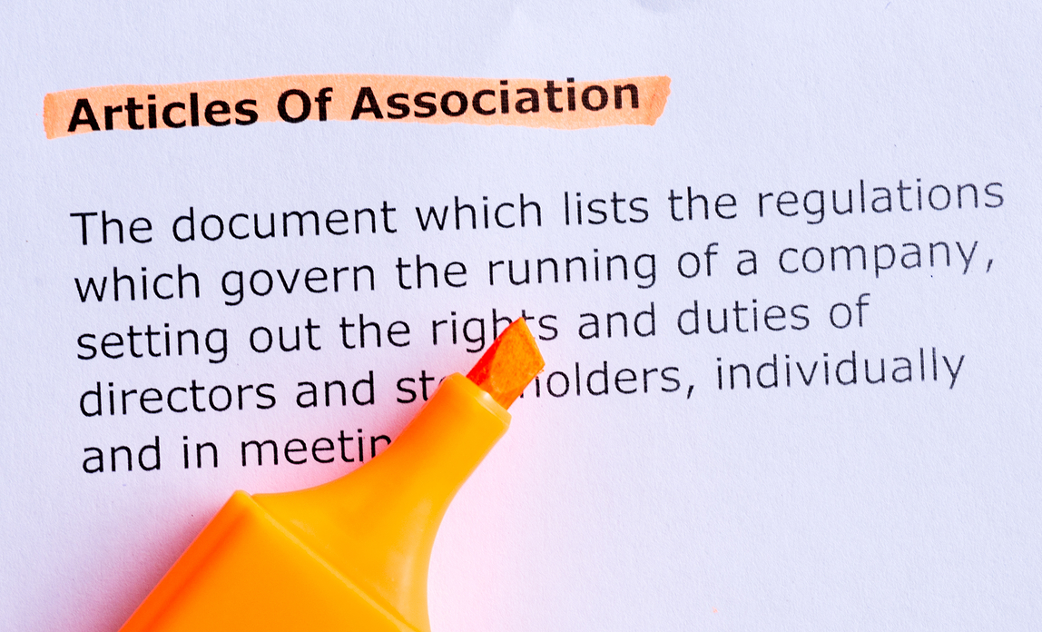 How to create articles of association for your firm