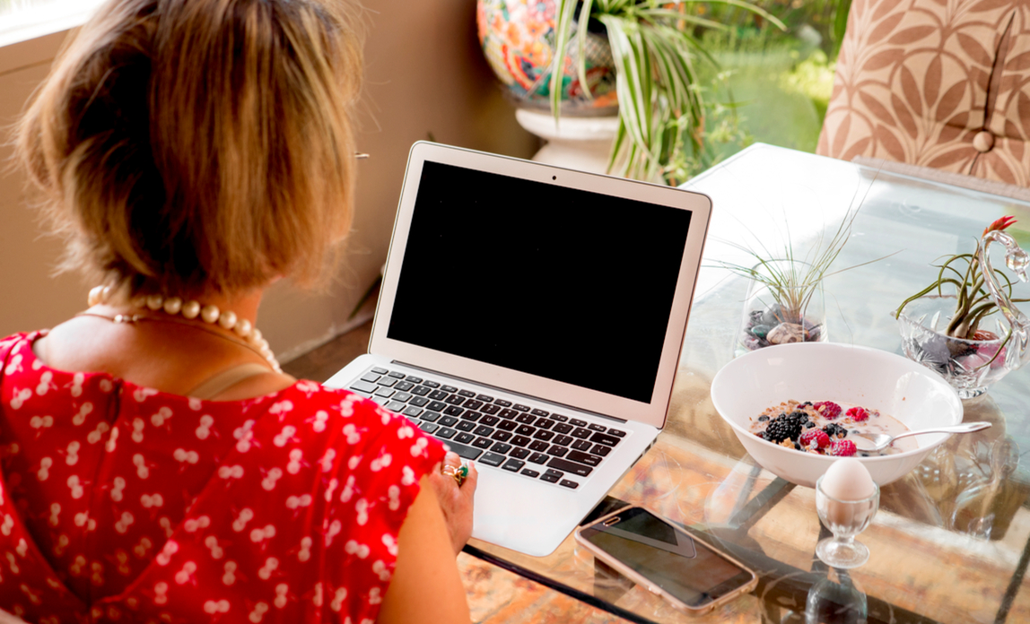 Woman working at home - the law on flexible working