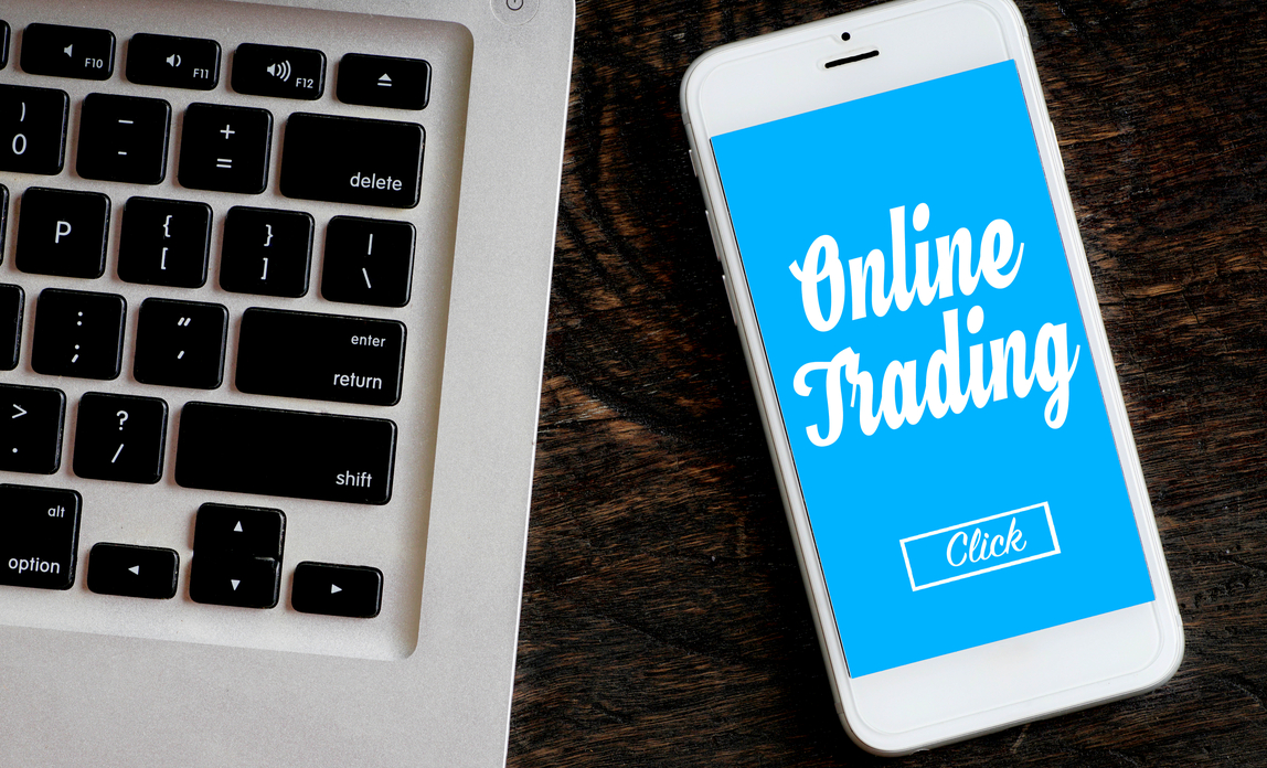 Trading online article on mobile phone